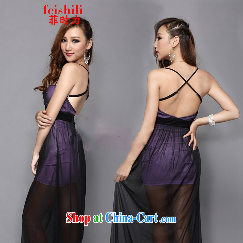 When competitiveness 2015 sense of cultivating the strap cross-back with name-yuan evening dress XJM - 5 FZE 082, 1335 purple are code