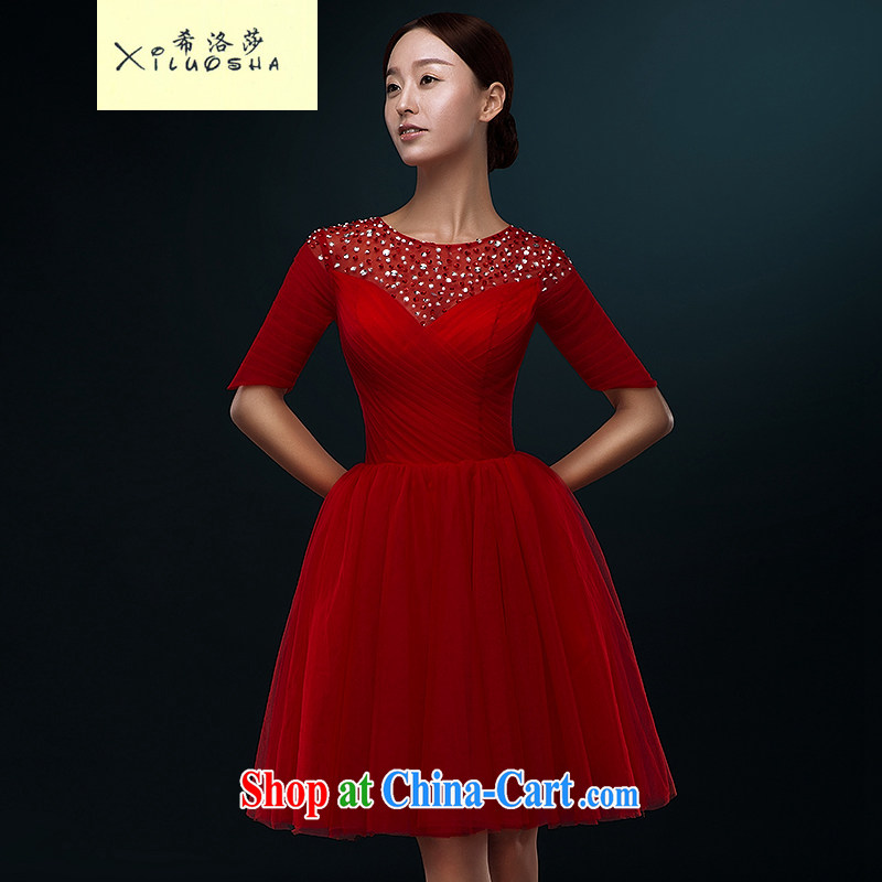 The Greek, Mona Lisa (XILUOSHA) Wedding dress short wedding toast serving brides in summer cuff banquet dress 2015 new small dress female Red L