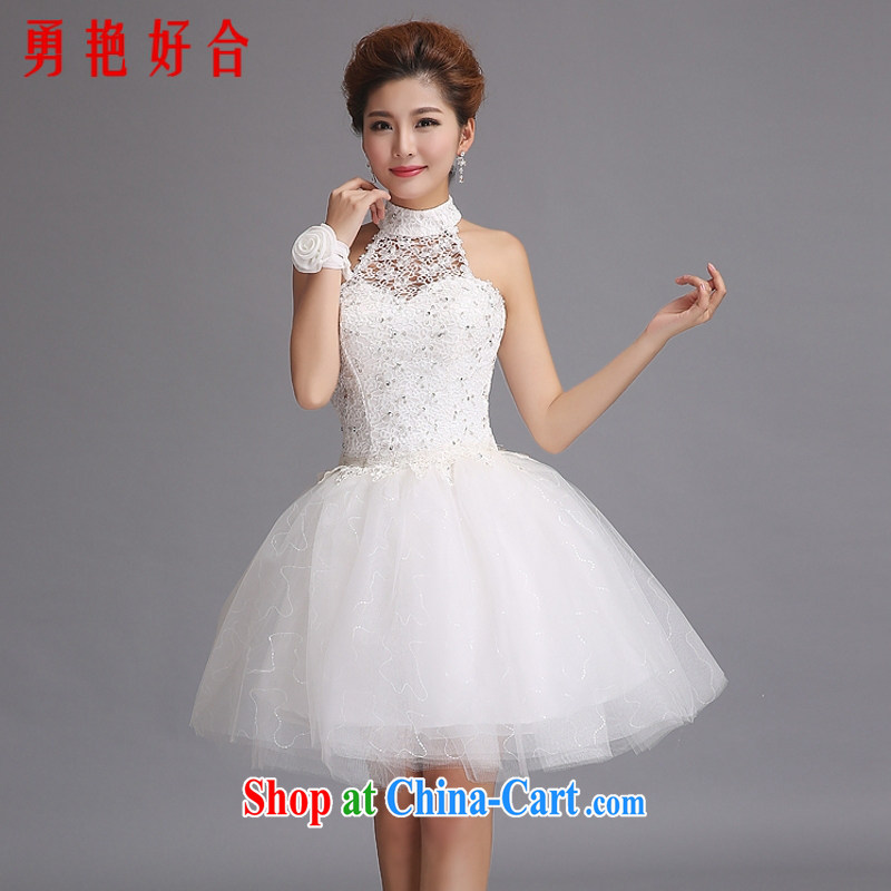 Yong-yan and new short skirt and sister 2015 is also wedding dresses bridesmaid wedding dress the small dress white. size color will not be returned.