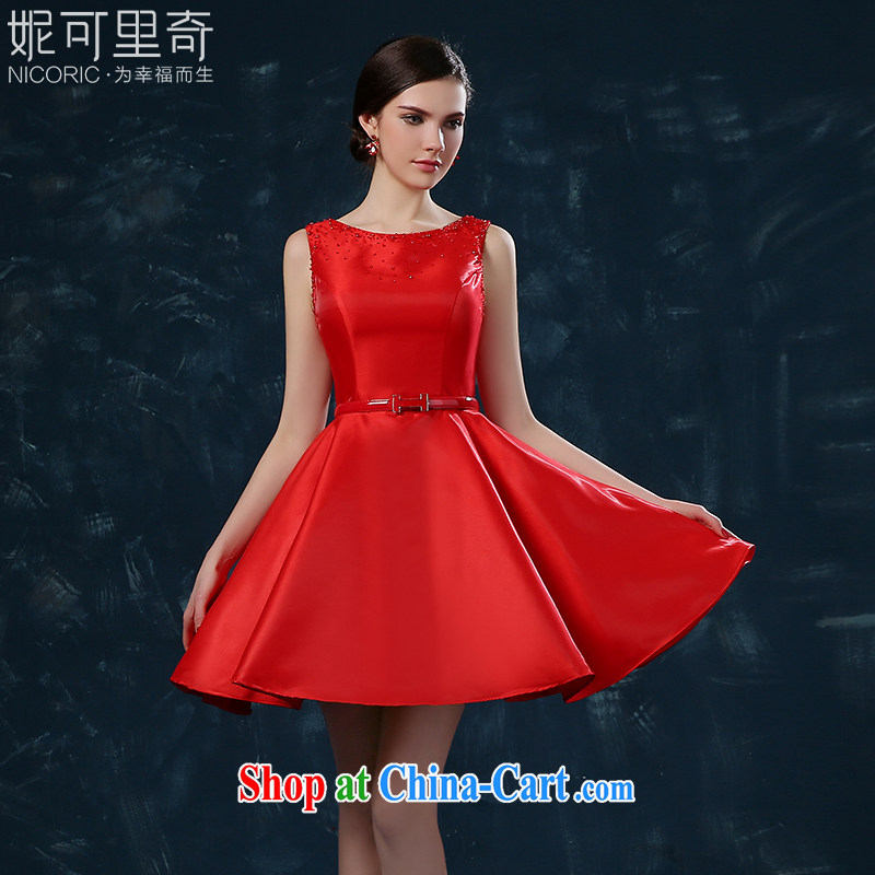 2015 new bride toast serving summer short stylish beauty wedding dresses red wedding dress banquet red XXL _graphics thin dress_