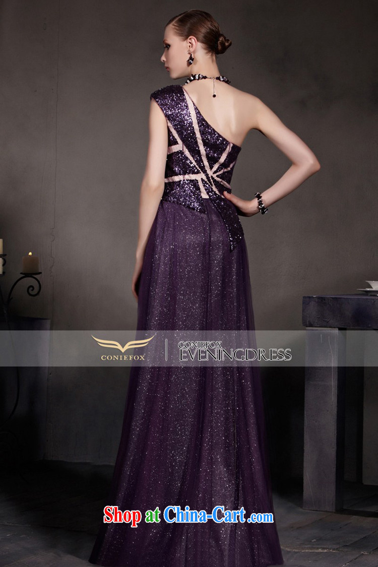 Creative Fox Evening Dress new dream purple evening dress single shoulder fall dress evening dress uniform toast high waist graphics thin dress the dress skirt 30,515 picture color XXL pictures, price, brand platters! Elections are good character, the national distribution, so why buy now enjoy more preferential! Health