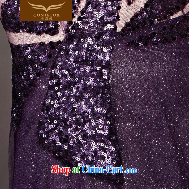 Creative Fox Evening Dress new dream purple evening dress single shoulder fall dress evening dress uniform toast high waist graphics thin dress the dress skirt 30,515 picture color XXL, creative Fox (coniefox), shopping on the Internet