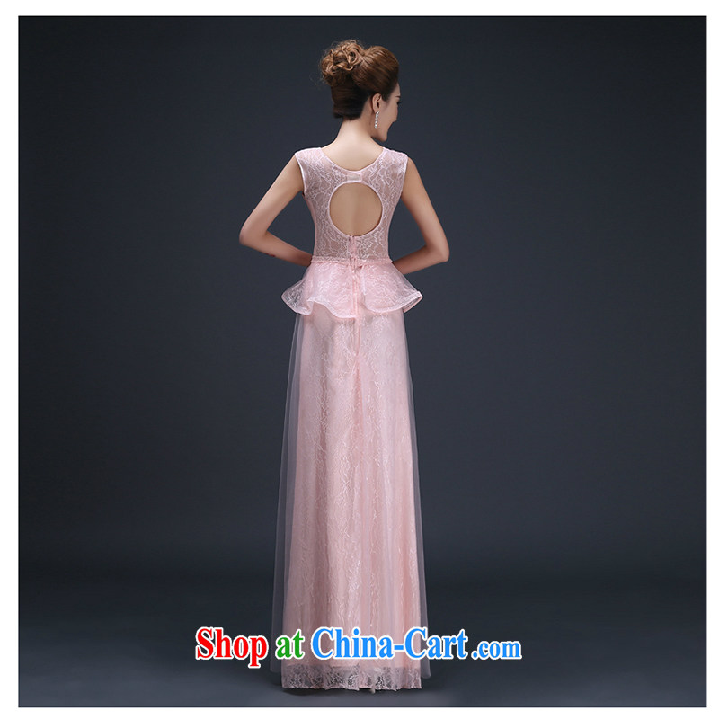 White first about the wedding dress 2015 new marriages served toast Korean dinner Evening Dress bridesmaid sexy beauty long pink tailored contact Customer Service