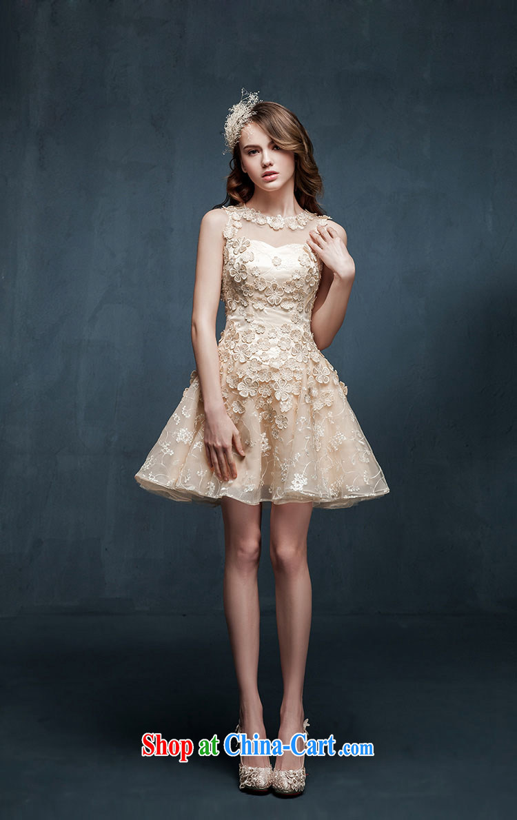 Pure bamboo yarn love 2015 new Openwork bridesmaid dresses clothing summer short sister dress bridal toast serving champagne color S pictures, price, brand platters! Elections are good character, the national distribution, so why buy now enjoy more preferential! Health