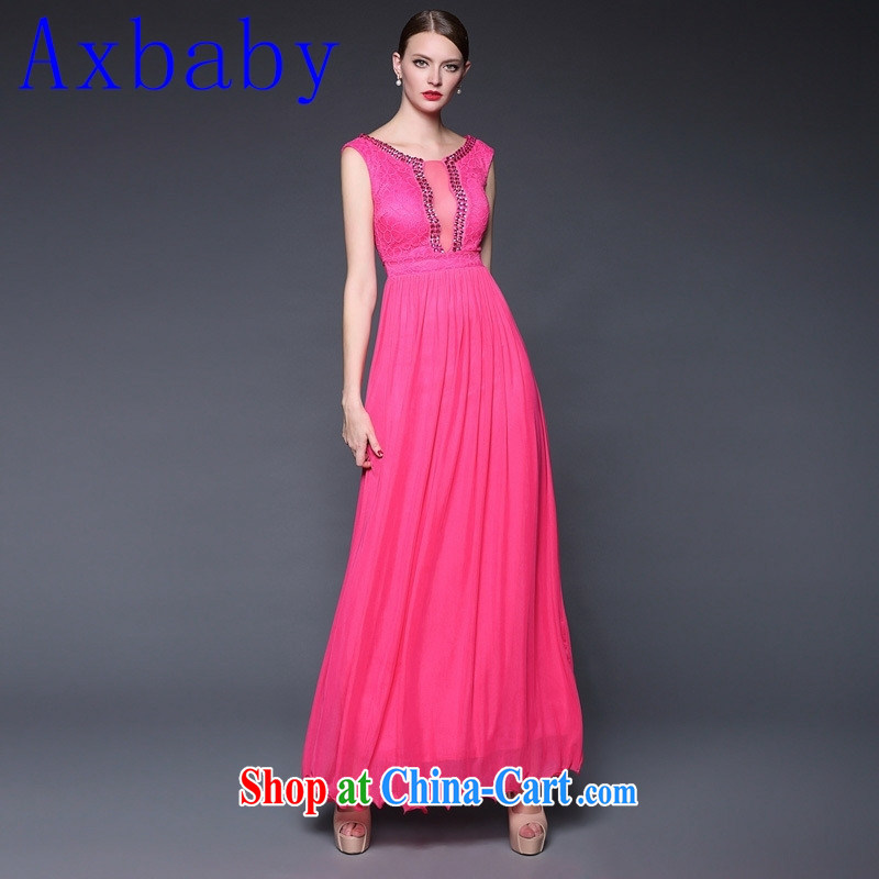 Europe Axbaby stylish 2015 summer new goddess elegant wind long evening dress dresses W 0227 white are code