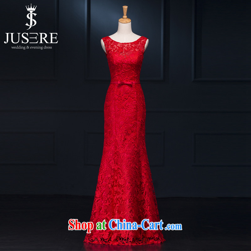 It is not the JUSERE high-end wedding dresses festive Red Cross Society of China won a toast service dress uniforms the uniform lace bow tie beauty graphics thin red tailored