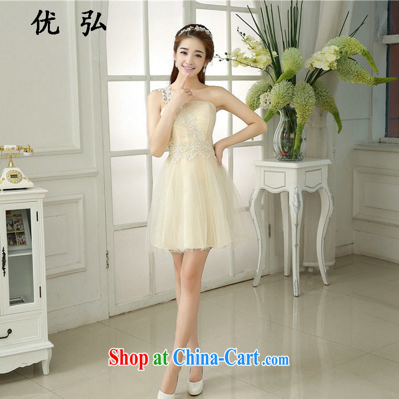 Optimize video bridesmaid bride's wedding dresses short Korean Beauty dress party banquet evening 2101 MZ champagne color code