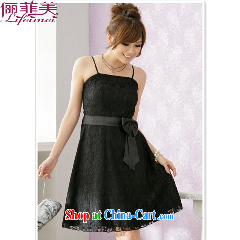 The e-mail package, Japan, and South Korea in the lace-up, Ultra graphics thin straps dress bridesmaid in SISTER small dress black XL