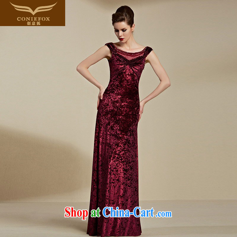 Creative Fox Evening Dress 2015 New Evening Dress long red bridal wedding dress uniform toast dress moderator dress long skirt 82,121 red S