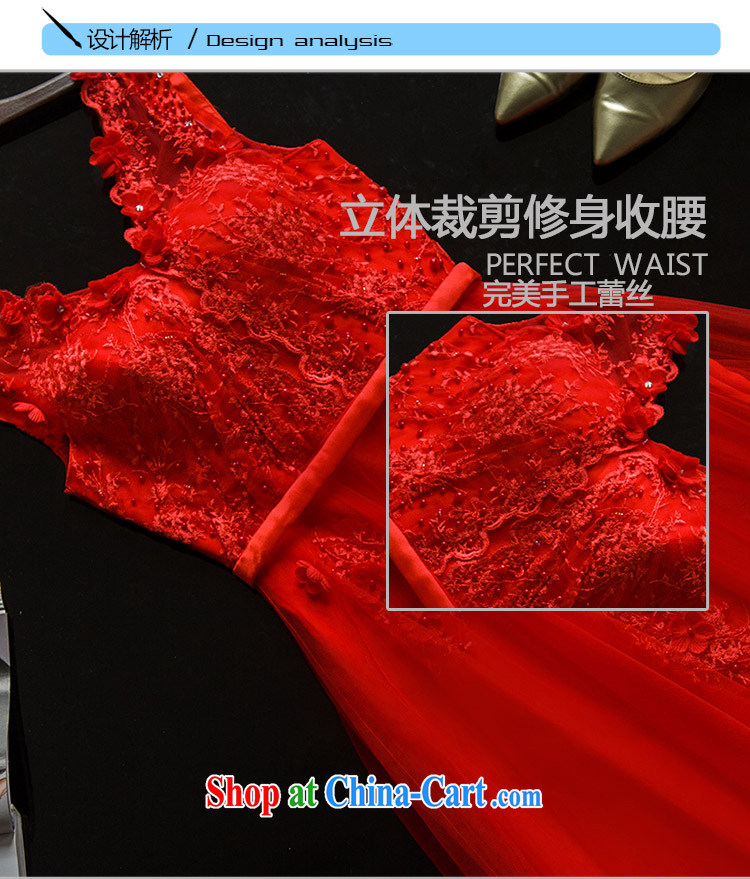 The wedding dress 2015 wedding long evening dress bridal lace shoulders serving toast wedding dress bridesmaid summer clothing Red. 7 Day Shipping do not return not-for-pictures, price, brand platters! Elections are good character, the national distribution, so why buy now enjoy more preferential! Health