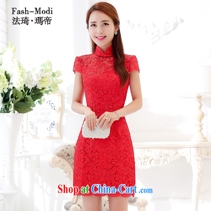 The angel Princess Royal 2015 summer new bride toast Service back door service beauty dresses dresses bridesmaid clothing night dress code red lace dress red XL 110 jack - 120 jack