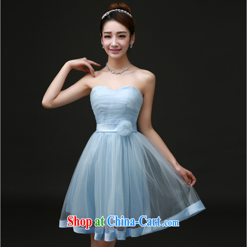 White first to approximately 2015 new bridesmaid serving short blue sister dress bridesmaid dress small dress spring banquet dress female sky blue tailored contact Customer Service