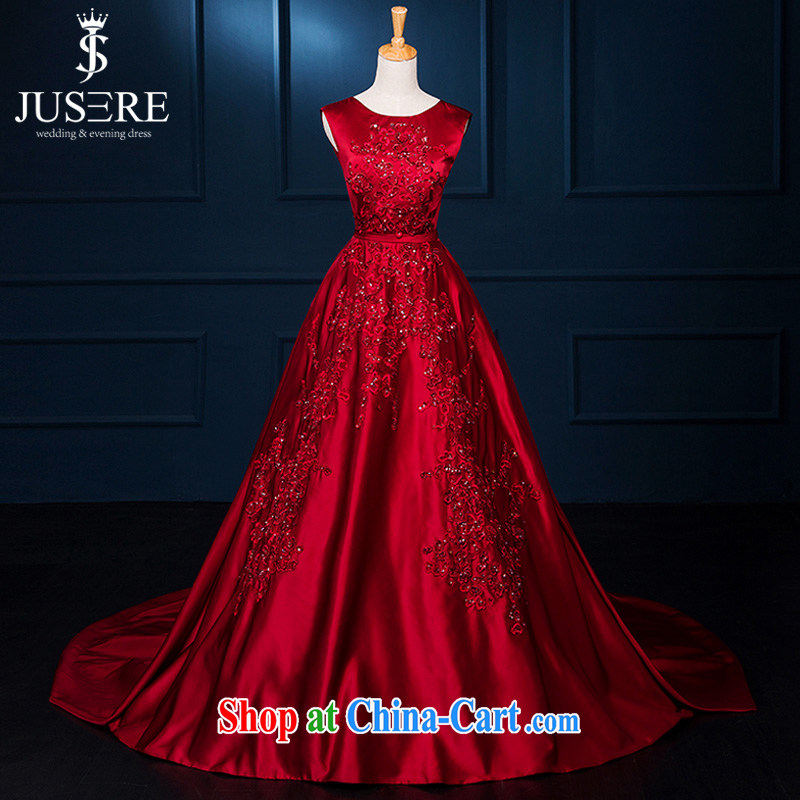 It is not the JUSERE high-end wedding dresses Elie Saab new high quality Deep V collar wine red bride toast wedding dress Evening Dress red tailored