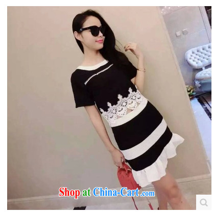 Stylish and small woman wind crowsfoot stitching custom, set two-piece 314 black are code