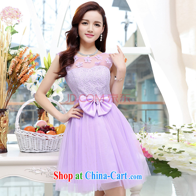 In particular Van Gogh Anne summer 2015 new trendy Web flowers collar Shaggy, with cultivating small dress purple XL