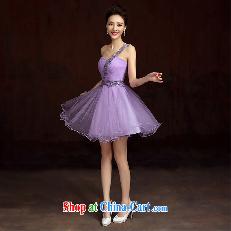 White first about bridesmaid service 2015 new bridesmaid dresses in purple Evening Dress summer short married sister dress evening dress uniforms, D tailored contact Customer Service