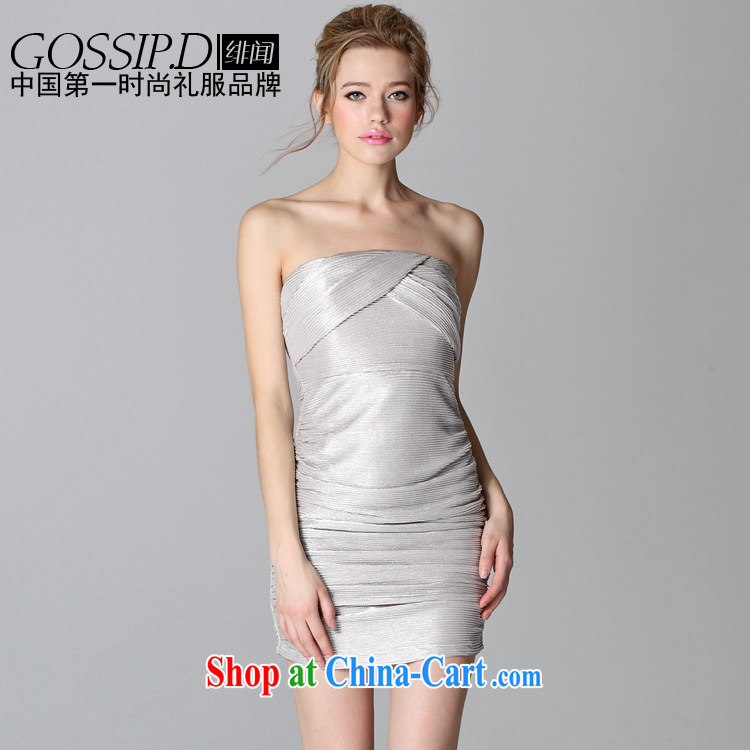 GOSSIP . D Fly Europe and heard the bare chest dress sense of tight package and dress my store small reception dress 1549 silver XL