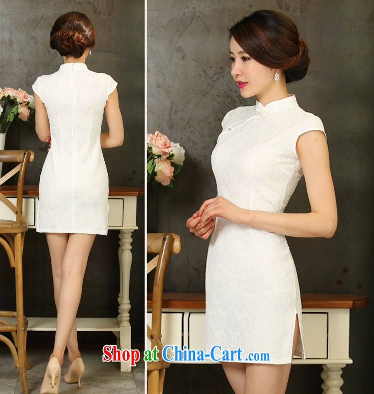 Oh, Bo 2015 new spring and summer Stylish retro dresses improved daily dress dress white XL pictures, price, brand platters! Elections are good character, the national distribution, so why buy now enjoy more preferential! Health