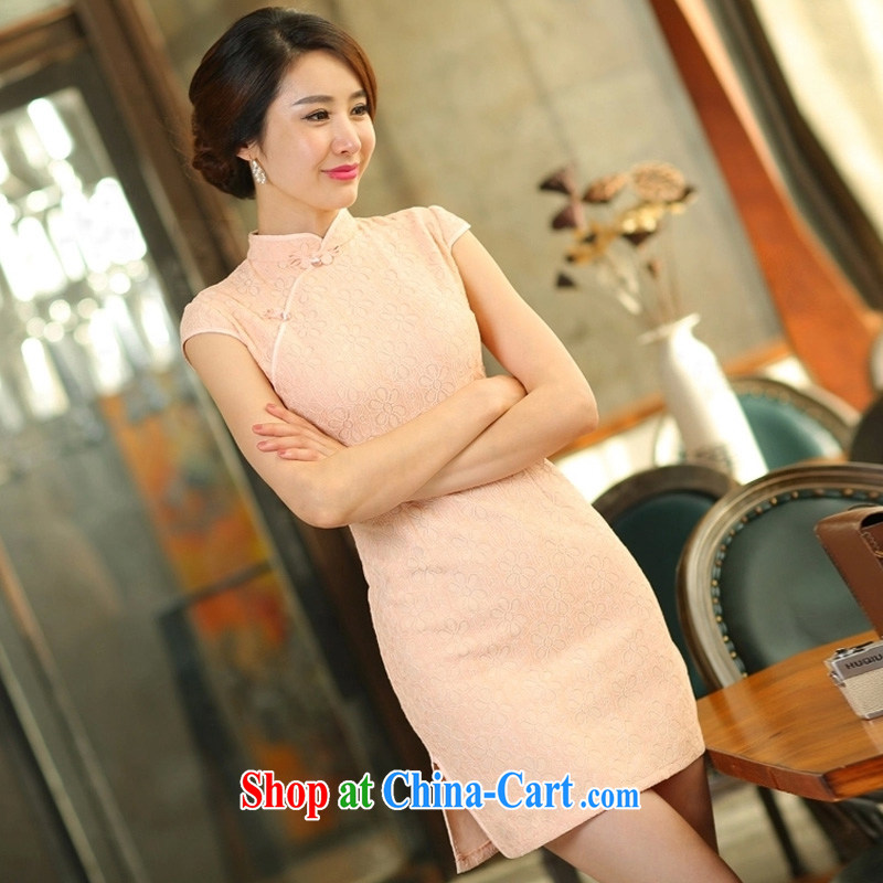 Oh, Bo 2015 new spring and summer Stylish retro dresses improved daily dress dress white XL, oh, blogs, shopping on the Internet