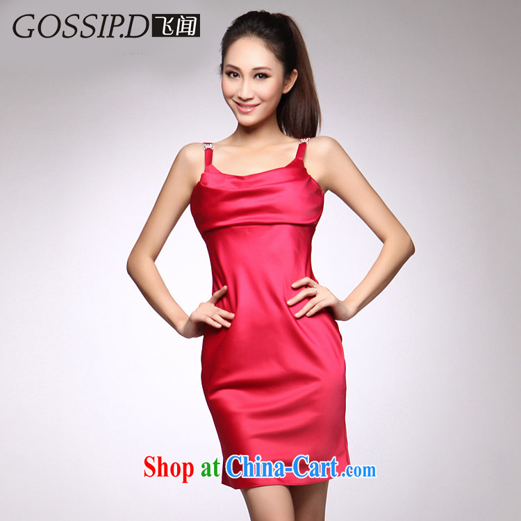 GOSSIP . D clearance 2015 summer elegance beauty bridesmaid dress Princess dress evening dress short of 1241 red L
