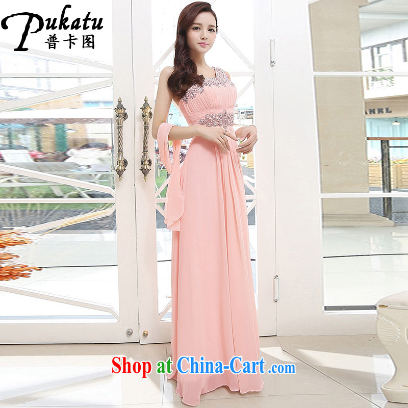 The card 2015 New Beauty video thin sexy Snow woven dresses, stylish and elegant wedding dress pink XL
