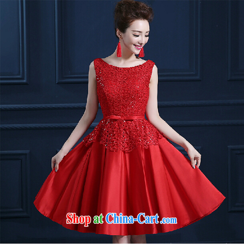 Pure bamboo yarn love 2015 New Red bridal wedding dress long evening dress evening dress uniform toasting Red double-shoulder dresses beauty red tailored contact Customer Service