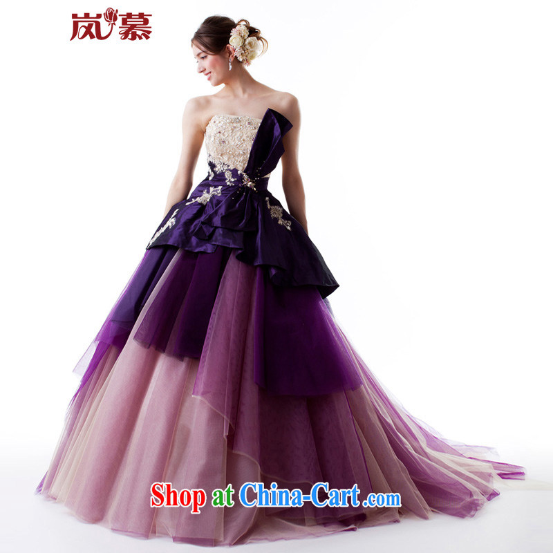 Sponsors The 2015 original design for the shaggy dress tail purple bridal dresses dresses ceremony performances serving as the purple custom size