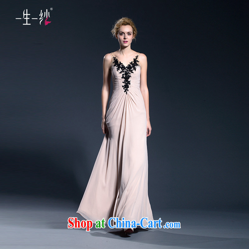 Double-shoulder dress long betrothal moderator summer dress Girls show their beauty and stylish girl toast service 402401384 pink XXL code 30 days pre-sale