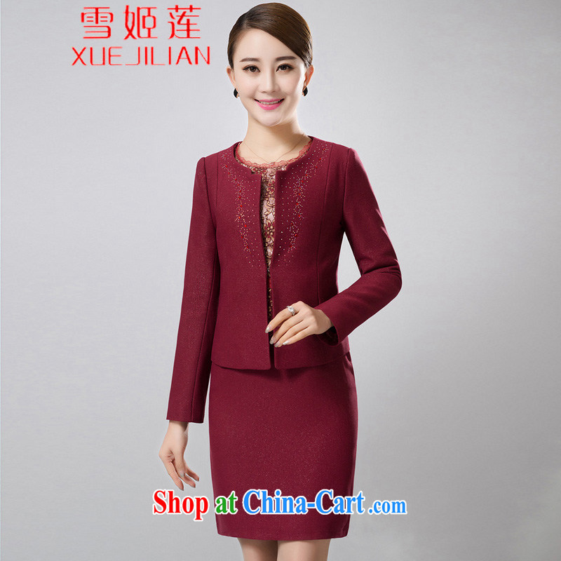 Hsueh-chi Lin's wedding package mom with two-piece 2015 spring and summer with middle-aged jacket wedding dresses dress #6387 maroon 5 XL