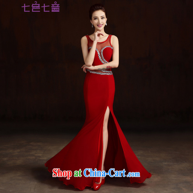 7-Color 7 tone the wedding dress 2015 wedding long evening dress bridal toast service wedding dress bridesmaid clothing female L XL 047
