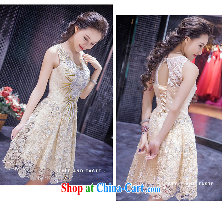 Love Life new 2015 summer retro-waist champagne color graphics thin ...
