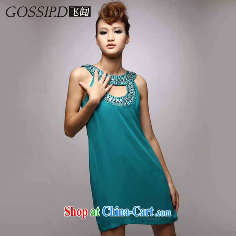 GOSSIP . D special bridesmaid dresses Small casual dress short performances, the banquet, the code Evening Dress 1034 green M