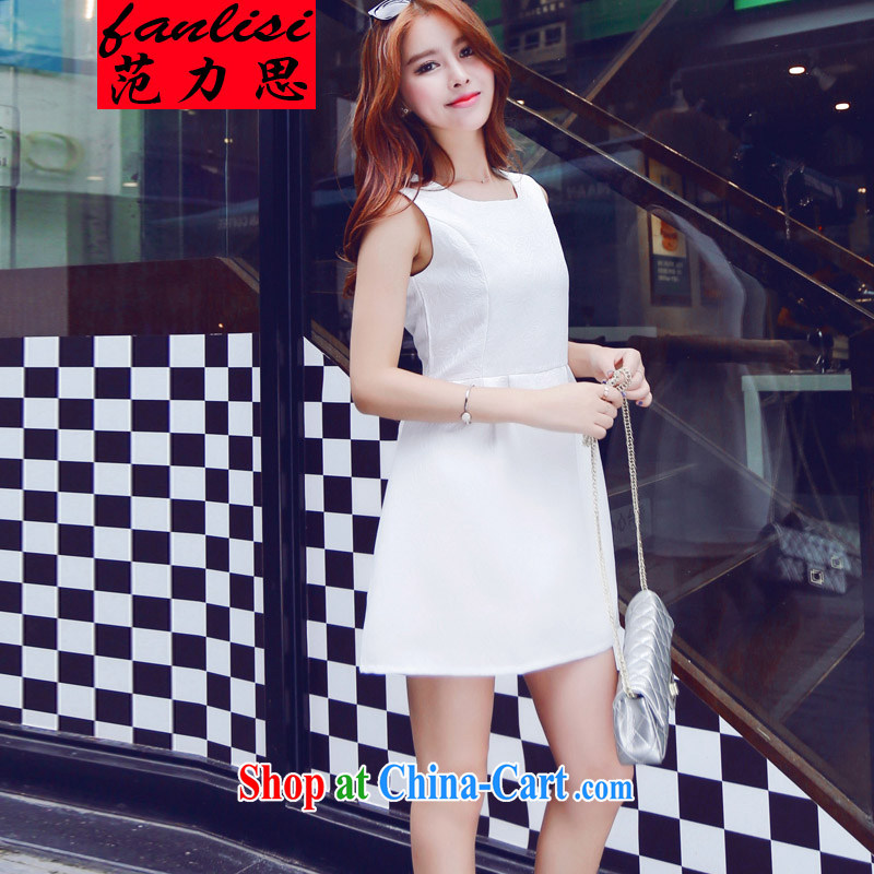 van, the Summer new small incense embossed lettering Paridelles dresses stereo and the tread small dress dress white 2XL