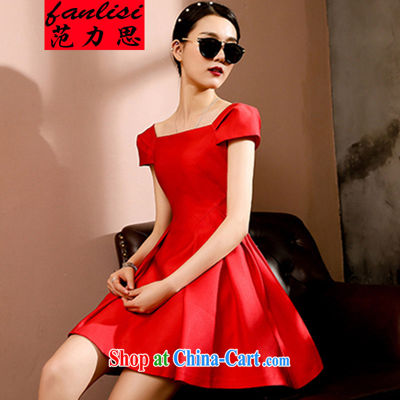 van, the new noble temperament small red dress dresses Korean version a field for cultivating graphics thin retro red 2 XL