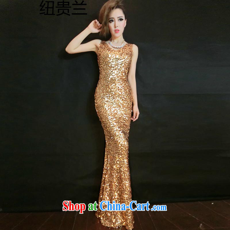 2015 Evening Dress long marriages served toast gold, cultivating fall 9888 #gold are code