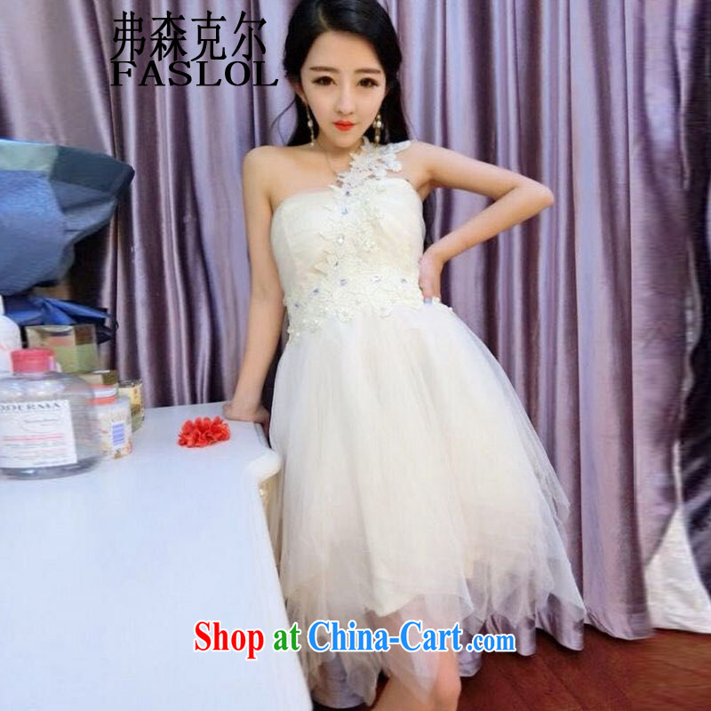 New Korean version of a sense-won the shoulder bare shoulders beauty dress dress dress, Color Code