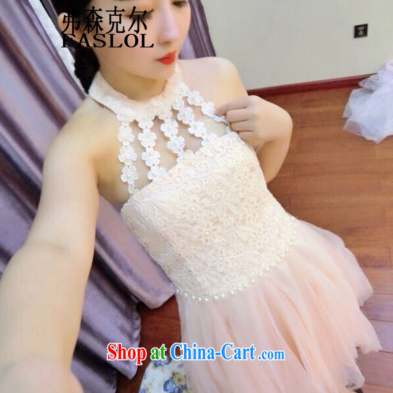 New female Korean fashion sense is also covered shoulders Princess Snow woven dresses dress 6569 pink are code