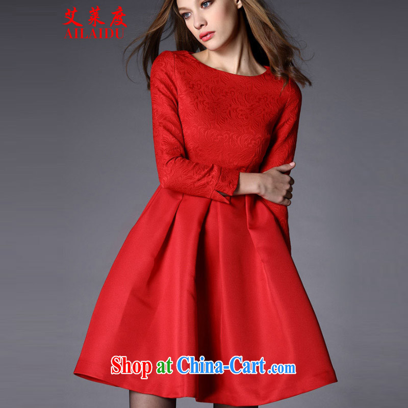 The Tony Blair, 2015 large red dresses wedding bridal toast clothing fall_winter dress Annual Meeting banquet JMB 090 - B _ 6916 red XL
