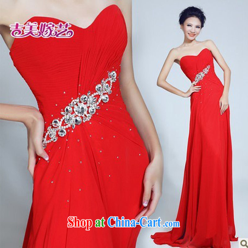 wedding dresses, marry us performing arts 2015 new erase chest Korean bridal gown tail LT 6032 bridal gown red XL