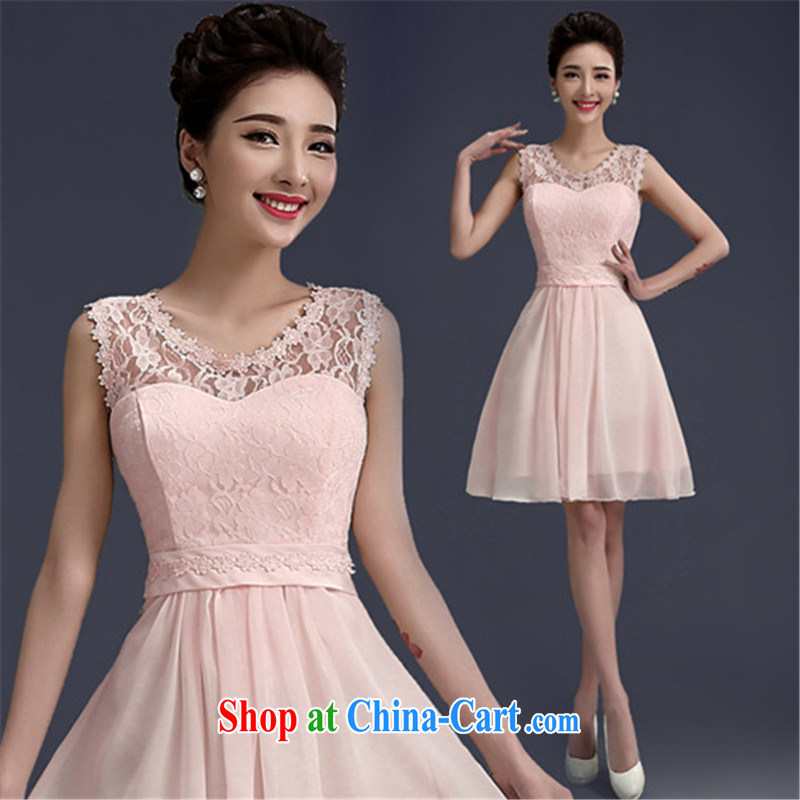 joshon &Joe summer 2015 new bridesmaid dresses in pink with flowers and sisters graduation dress dinner dress small 5 XL