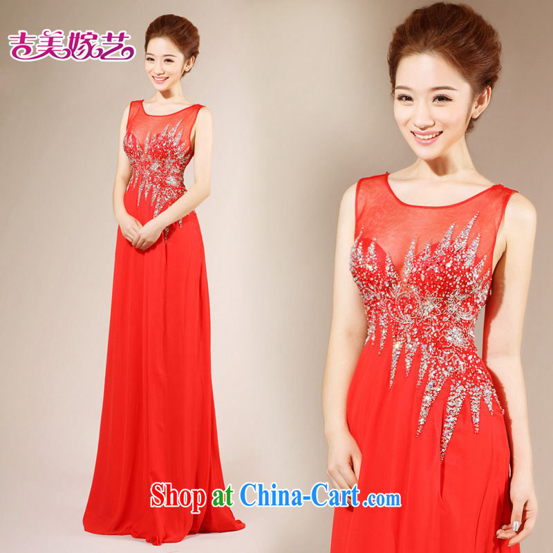 wedding dresses, marry us performing arts 2015 new Korean shoulder strap beauty LT dress 7136 bridal gown red 6#