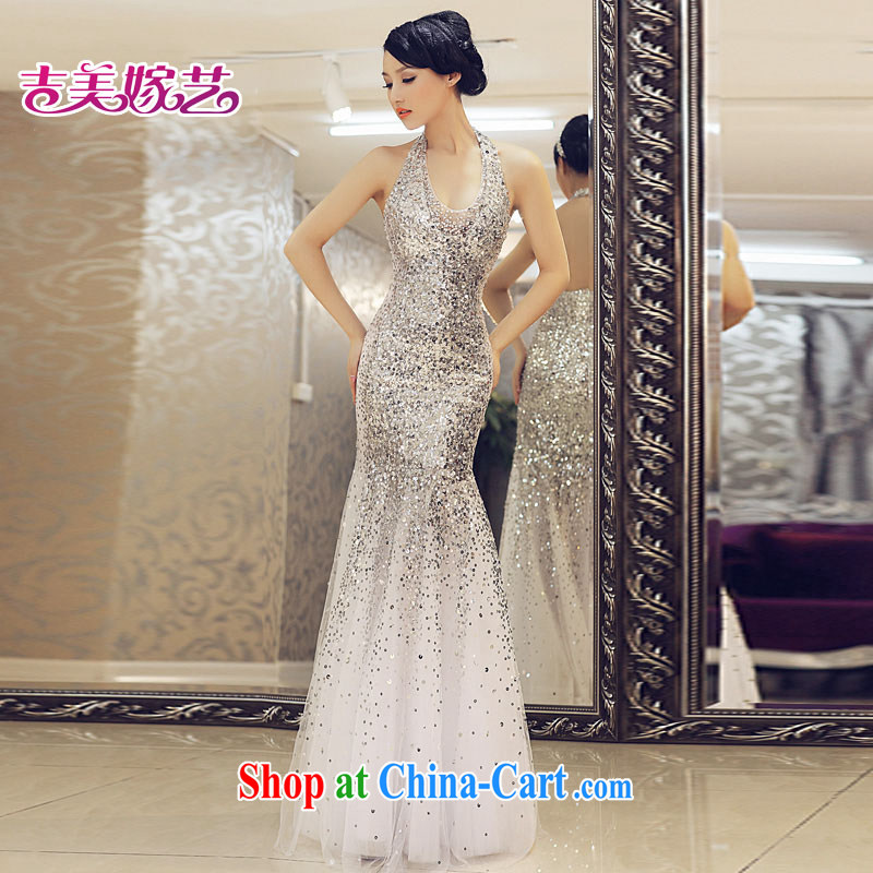 wedding dresses, marry us performing arts 2015 New Hang up too long, crowsfoot wedding dress LS 912 bridal toast clothing dress silver L