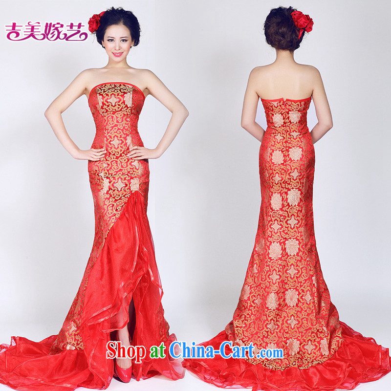 wedding dresses, marry us performing arts 2015 new erase chest Korean Red dress crowsfoot LT 961 bridal gown red L