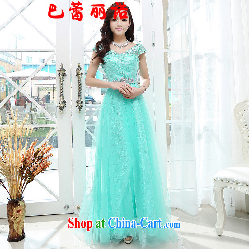 The Ballet, The 2015 new lace dress sleeveless fairy skirt bridal gown snow woven of Yuan beauty charm bridesmaid skirts water green XL