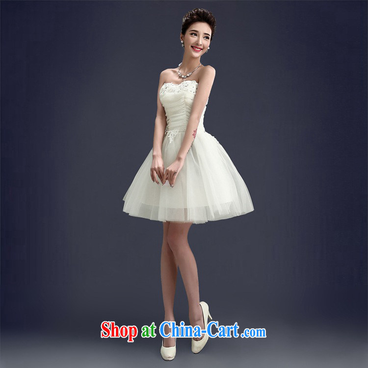 joshon &Joe bridesmaid sister's dress stage debut Service graduated from small dress white short, short skirt with lace yarn Web Picture Color XL pictures, price, brand platters! Elections are good character, the national distribution, so why buy now enjoy more preferential! Health