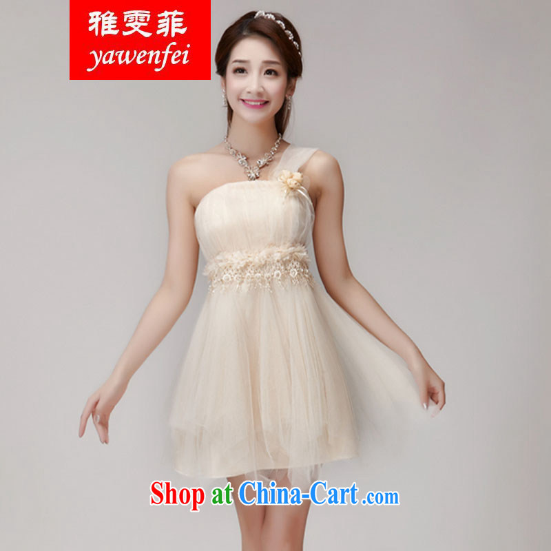 Ms Louisa , bridesmaid service 2015 new bridesmaid dresses in banquet dress sister dress short dress small summer apricot L