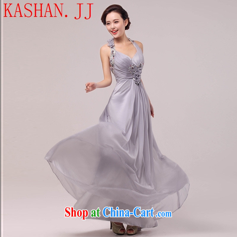 The-hwan, summer 2015 new Snow woven dress bridal wedding dress light drill mount also served toast bridesmaid dress gray XL
