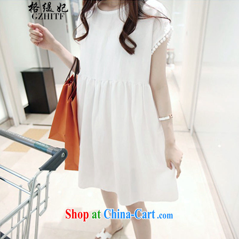 The economy should be Princess summer leisure large code female loose video thin solid doll dresses and 335 A 102,029 white M