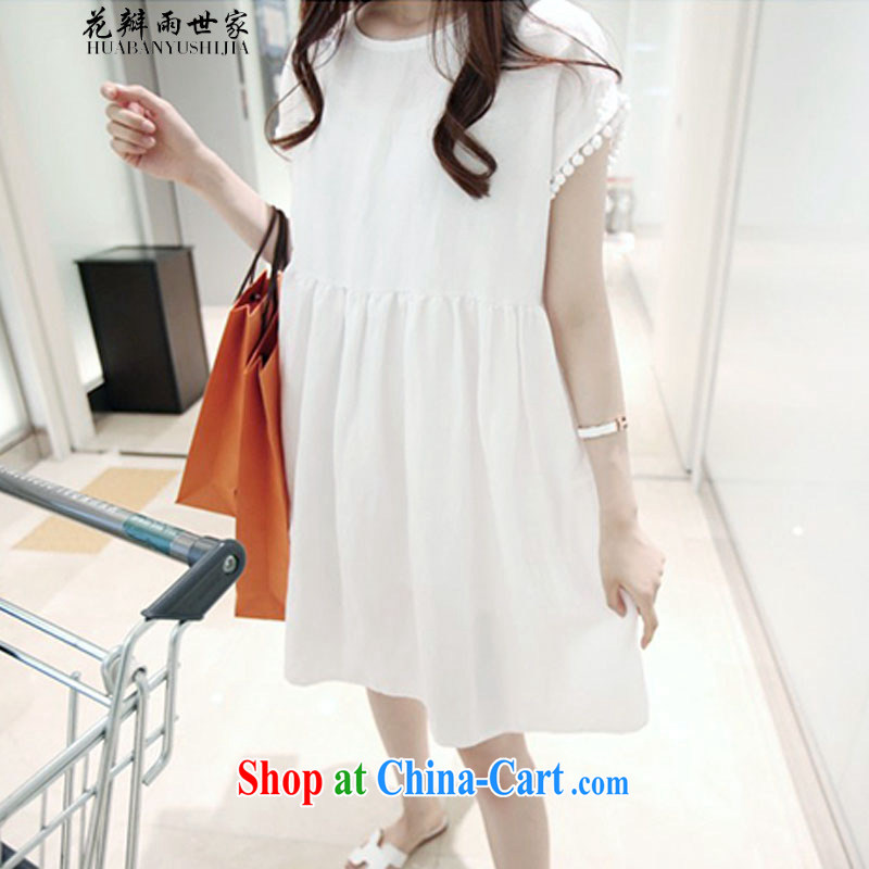 Petals rain saga should be summer leisure large code female loose video thin solid doll dresses and 335 A 102,029 white L