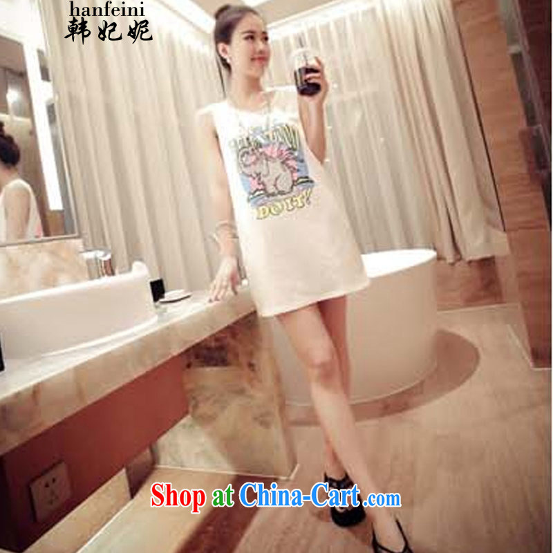 Korean Princess Anne Korean elephant stamp duty relaxed relaxed dress vest the 325 A 990,118 white are code